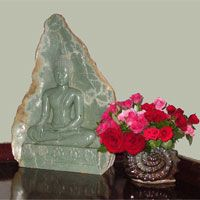 "Impressively Beautiful Large-Decor Sukhothai Buddha With  ""Earth  Witness"" Mudra"